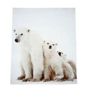 Biela deka J-Line Bear, 130x160 cm