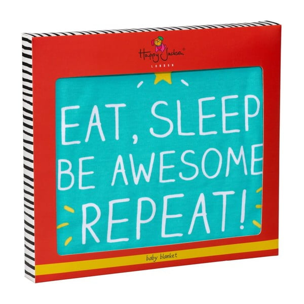 Detská deka Happy Jackson Eat, Sleep And Be Awesome
