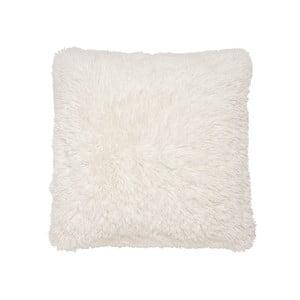 Biely vankúš z umelej kožušiny Catherine Lansfield, 45×45 cm