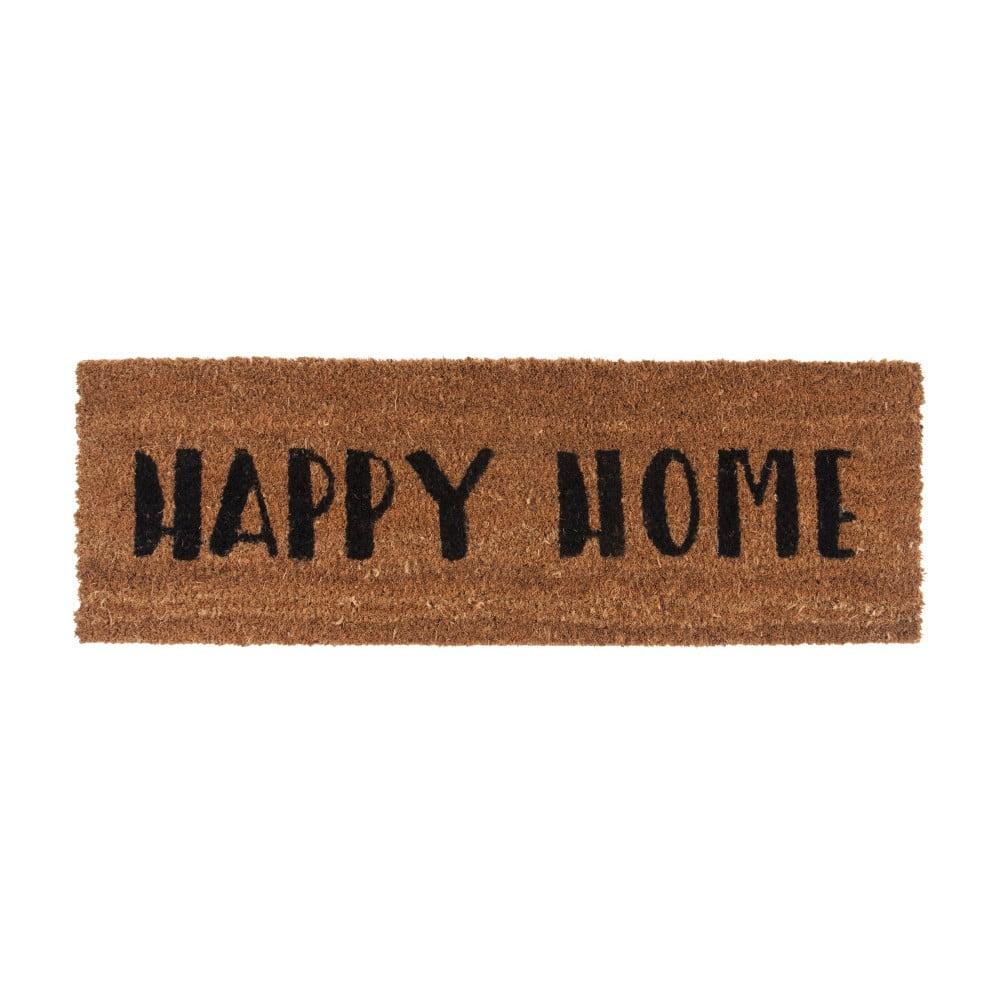 Rohožka s čiernym nápisom PT LIVING Happy Home, 26 × 75 cm