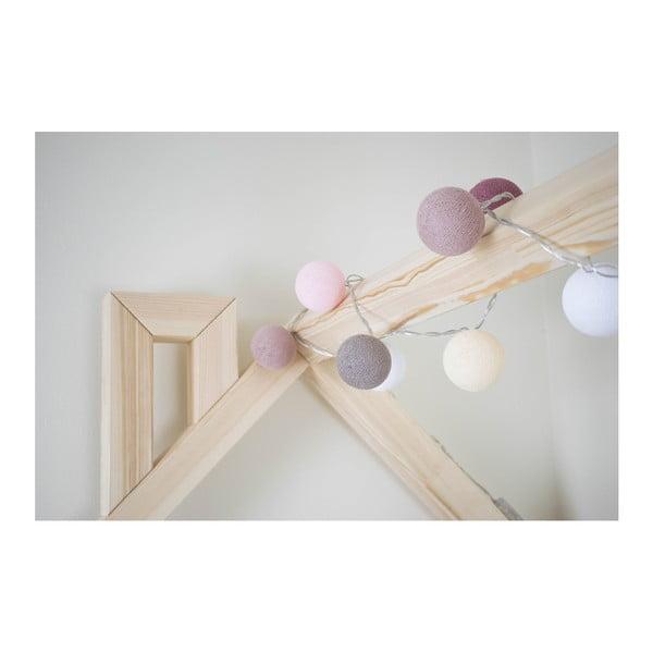 Detská ružová posteľ zborovicového dreva Benlemi Happy, 90×200cm