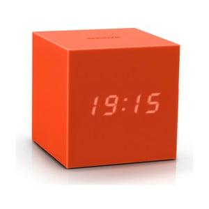 Oranžový LED budík Gingko Gravitry Cube