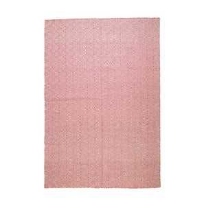 Vlnený koberec Geometry Rhomb Pink & White, 160x230 cm