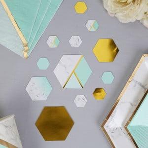 Sada 100 stolových dekorácií Neviti Mint Colour Block Marble