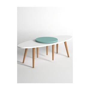 Modro-biely konferenčný stolík Monte Jenga