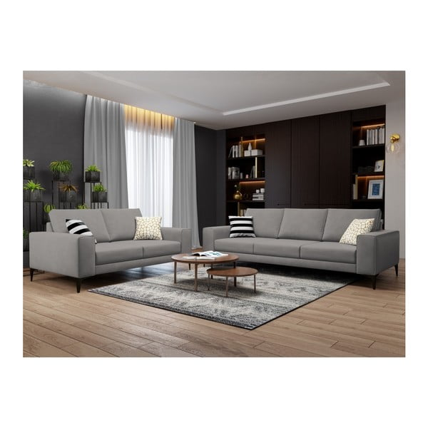 Sivá dvojmiestna pohovka Cosmopolitan Design Lugano