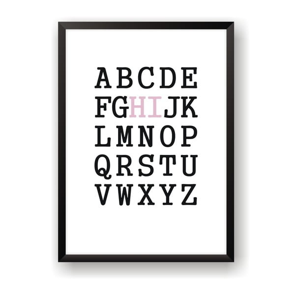 Plagát Nord & Co Hi Alphabet, 21 x 29 cm