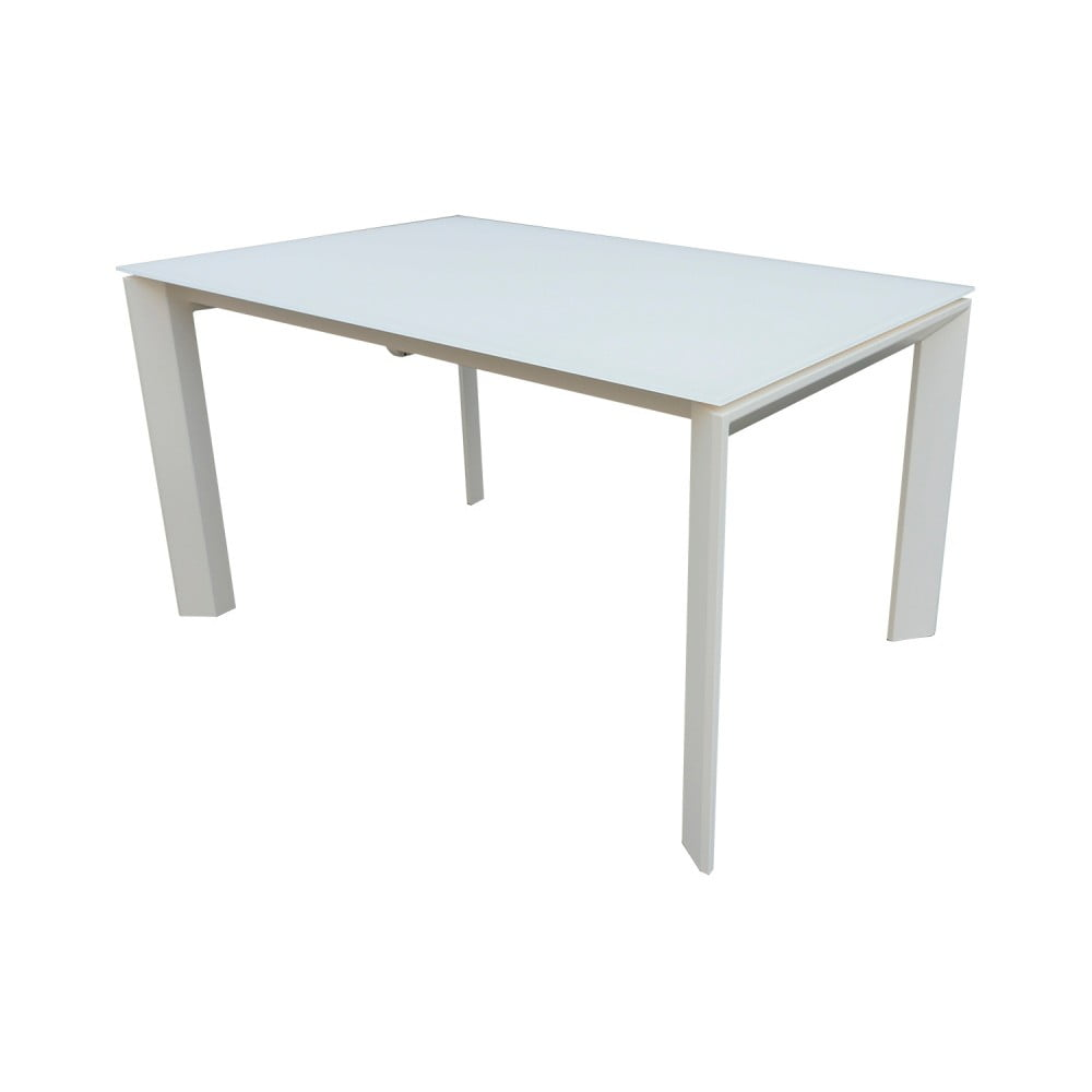 Biely rozkladací jedálenský stôl sømcasa Nicola, 140 × 90 cm