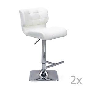 Sada 2 bielych barových stoličiek Interlink Escondido