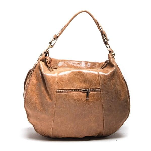 Kožená kabelka Takey 886 Cognac