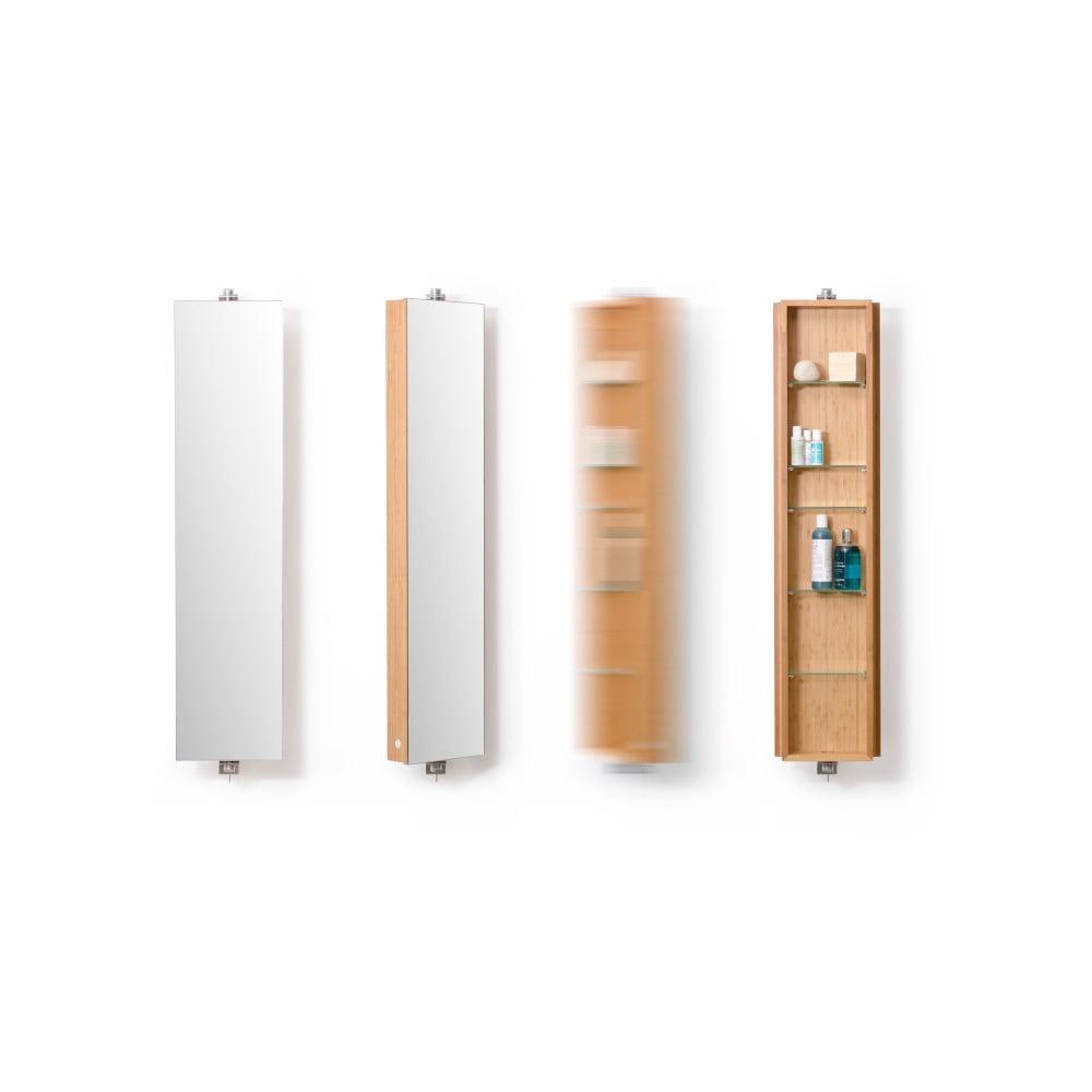 Bambusová kúpeľňová skrinka Wireworks Domain Bamboo, výška 110 cm