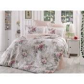 Bavlnené obliečky z bavlneného popelínu s plachtou Clementina Rose, 200×220cm
