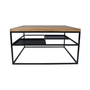 Čierny konferenčný stolík Take Me HOME Foursquare, 80×80cm