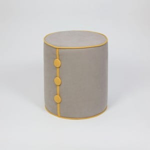 Sivý sedací taburet Dombi Lee, ⌀ 41 cm