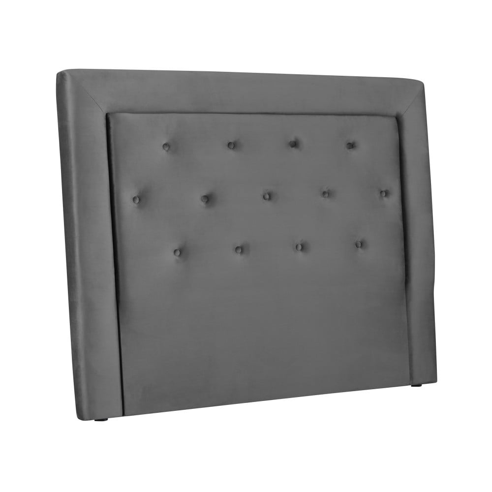 Sivé čelo postele Cosmopolitan Cloud, šírka 160 cm