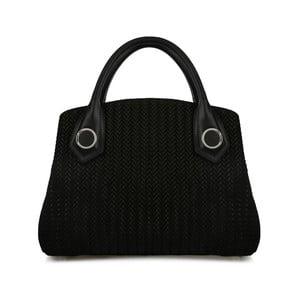 Čierna kožená kabelka Beverly Hills Polo Club Monica