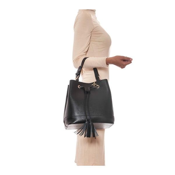Kožená kabelka Renata Corsi 430 Nero