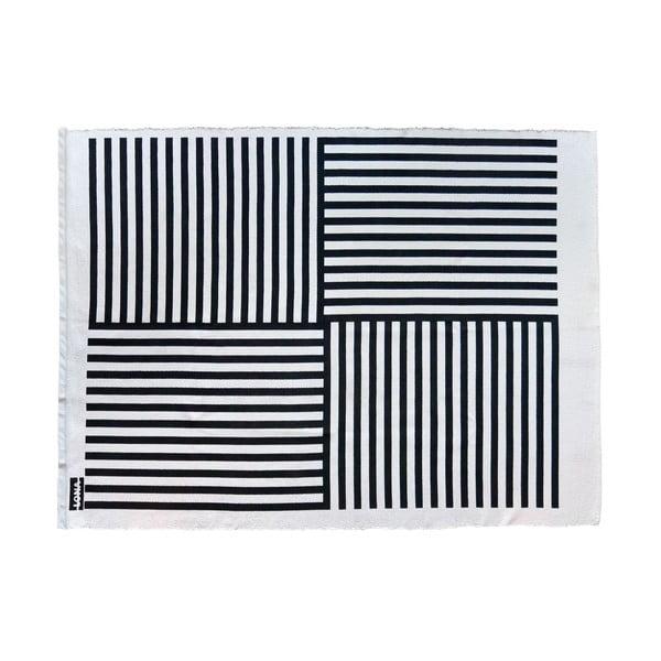 Koberec Lona Print 200x150 cm, čierny/biely
