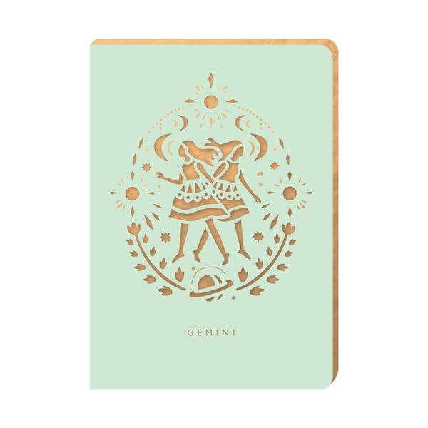 Linajkový zápisník Portico Designs Blíženci, 124 stránok