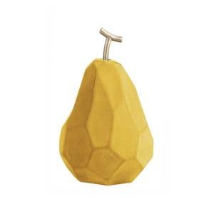 Matne okrovožltá betónová soška PT LIVING Origami Pear
