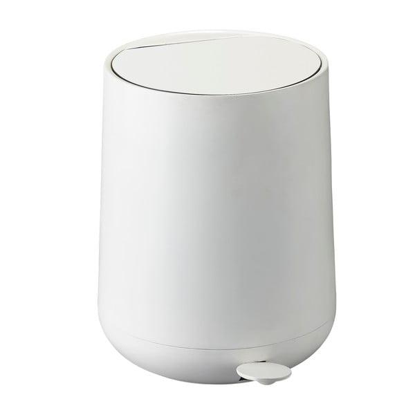 Biely pedálový odpadkový kôš Zone Nova, 5 l