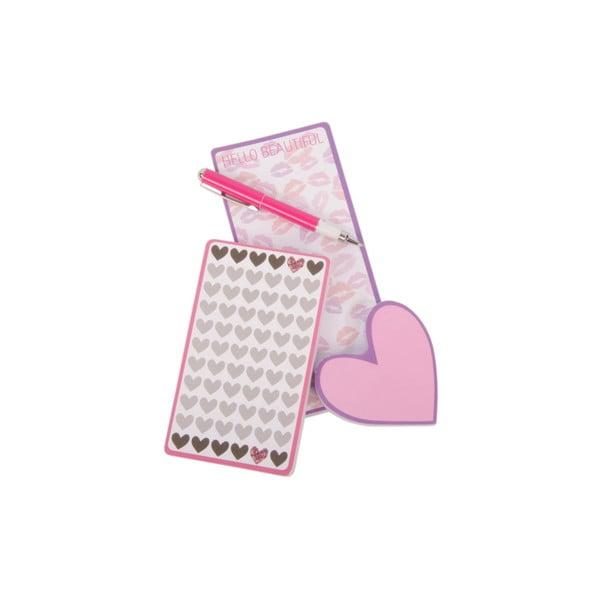 Sada 3 zápisníkov Kiss Love