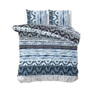 Modré obliečky Sleeptime Sweet Shibori Retro, 200×220 cm