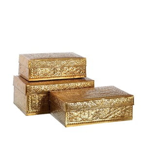 Set 3 boxov  Golden Aluminium