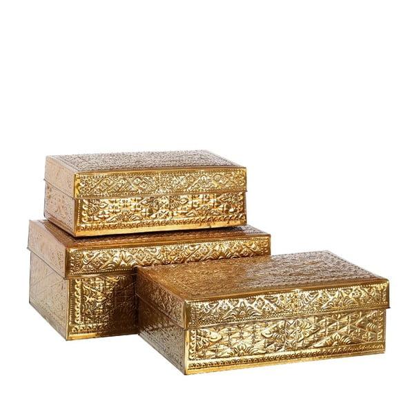 Set 3 boxov  Golden Aluminium