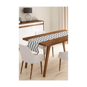 Behúň na stôl z mikrovlákna Minimalist Cushion Covers Grey Stripes, 45×145 cm
