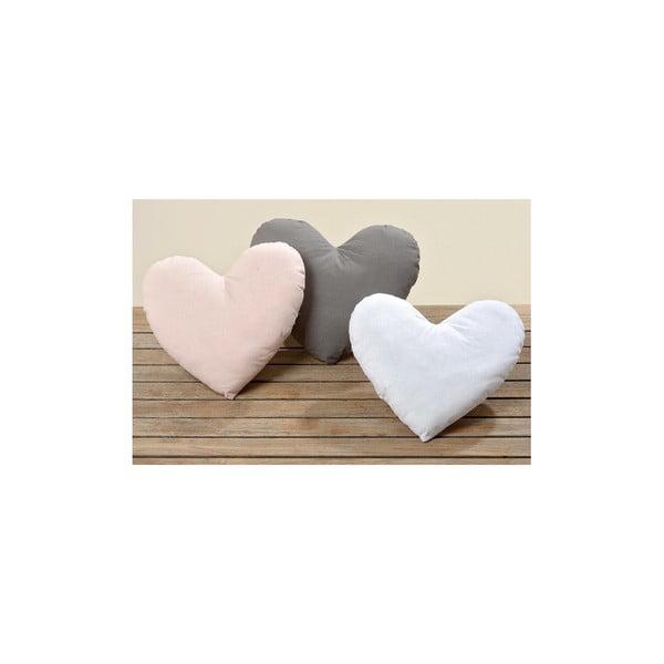 Sada 3 vankúšov Heart, 28x31 cm
