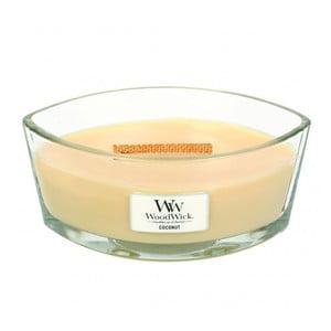 Sviečka s vôňou kokosového mlieka a vanilky Woodwick, doba horenia 80 hodín