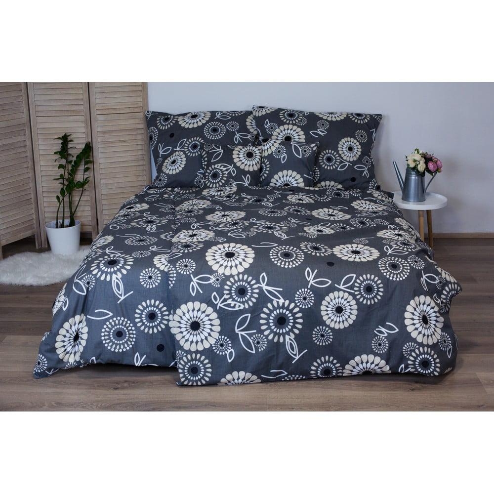 Sivé bavlnené posteľné obliečky Cotton House Elisa, 140 x 200 cm