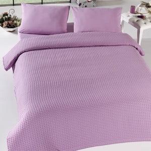 Ľahká prikrývka cez posteľ Pique Bürümcük Lilac,200x240cm