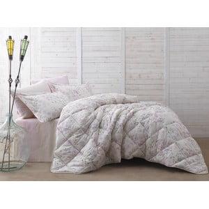 Pléd cez posteľ na dvojlôžko s plachtou a obliečkami na vankúše Peint, 195 x 215 cm
