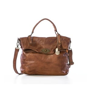 Hnedá kožená kabelka Federica Bassi Rana