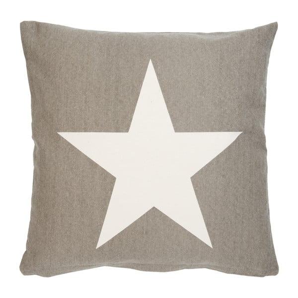 Hnedá obliečka na vankúš Clayre& Eef One Star, 50x50 cm