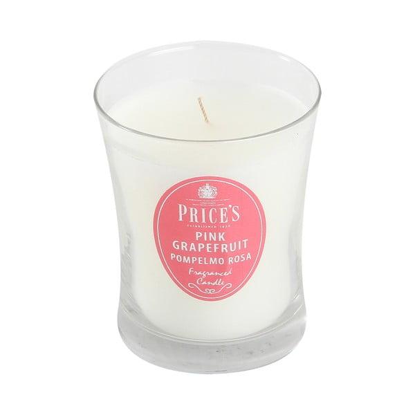 Vonná sviečka Prices Ružový grapefruit, 45 hodín horenia