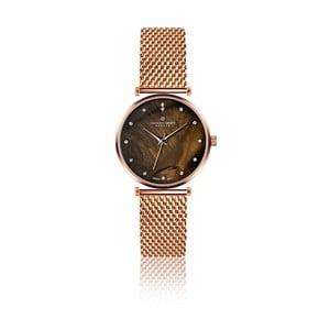 Dámske hodinky s antikoro remienkom v striebornej farbe v ružovozlatej farbe Frederic Graff Jaspis