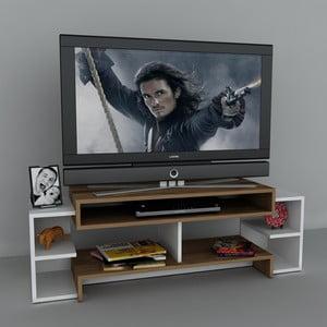 Stolík na televízor Libra White, 29,5x140x46,8 cm