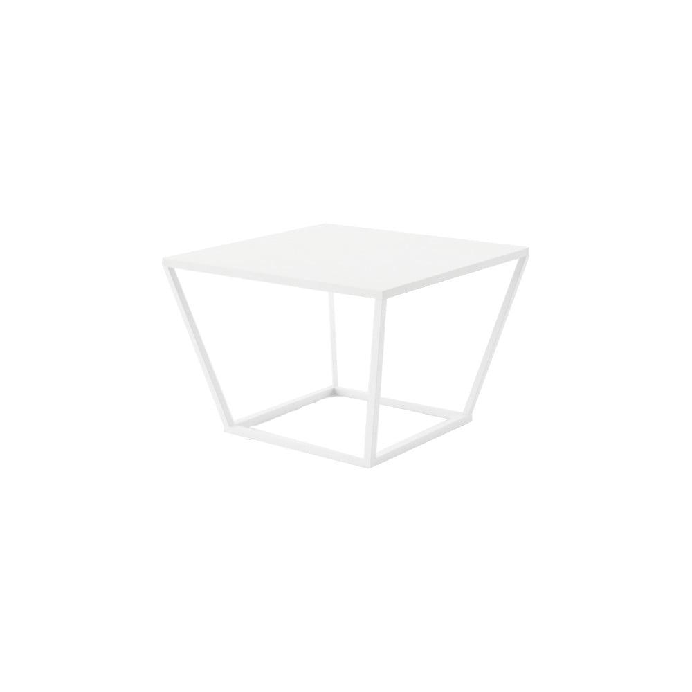 Malý biely konferenčný stôl z mramoru s bielou podnožou Absynth Noi Brazil