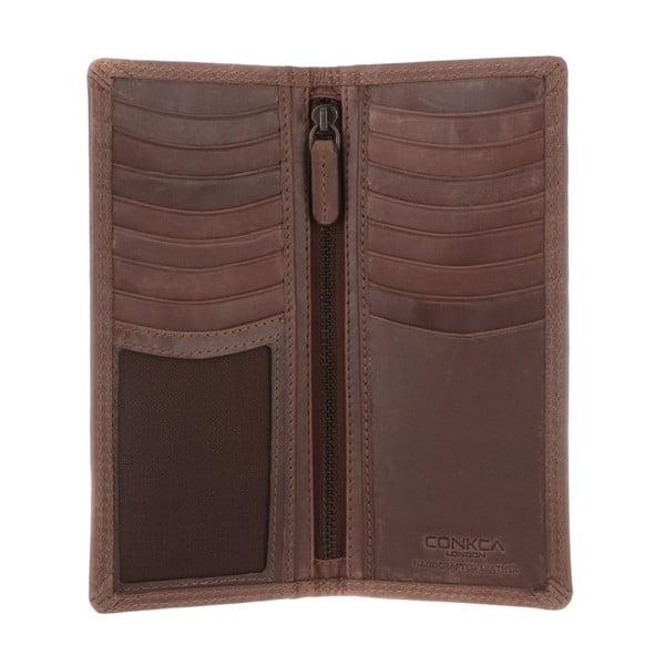 Kožená peňaženka Hamilton Conker Brown