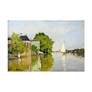 Obraz Claude Monet - Houses on the Achterzaan, 90x60 cm