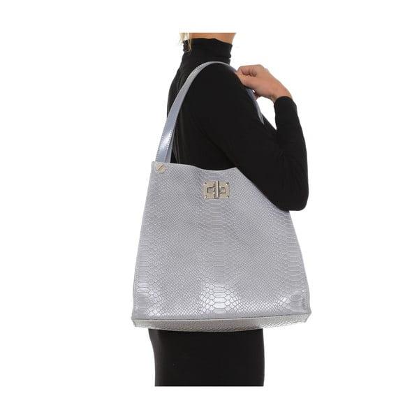 Kožená kabelka Anna Luchini 8038 Grigio