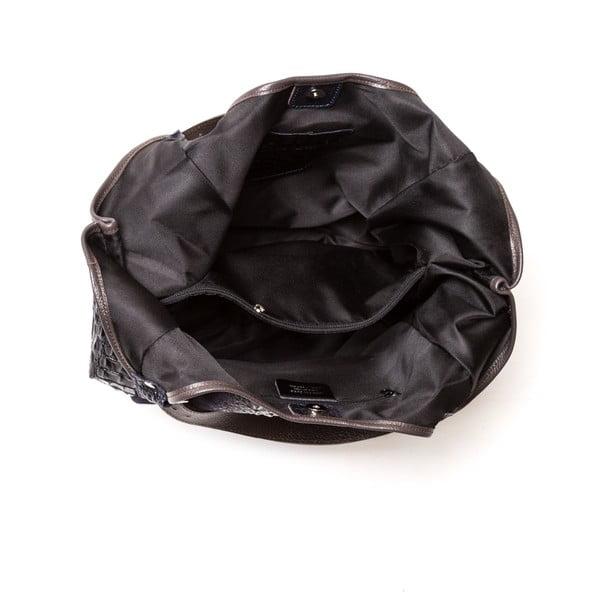 Kožená kabelka Carla Ferreri 838 Nero