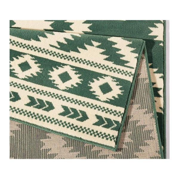 Zelený koberec Hanse Home Gloria Ethno, 80 x 150 cm