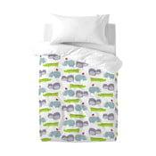 Detské bavlnené obliečky na paplón a vankúš Mr. Fox Hippo, 100×120cm