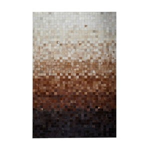 Koberec z pravej kože Sao Paulo Brown, 140x200cm