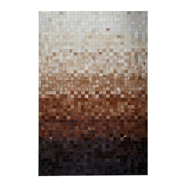 Koberec z pravej kože Sao Paulo Brown, 170x240 cm