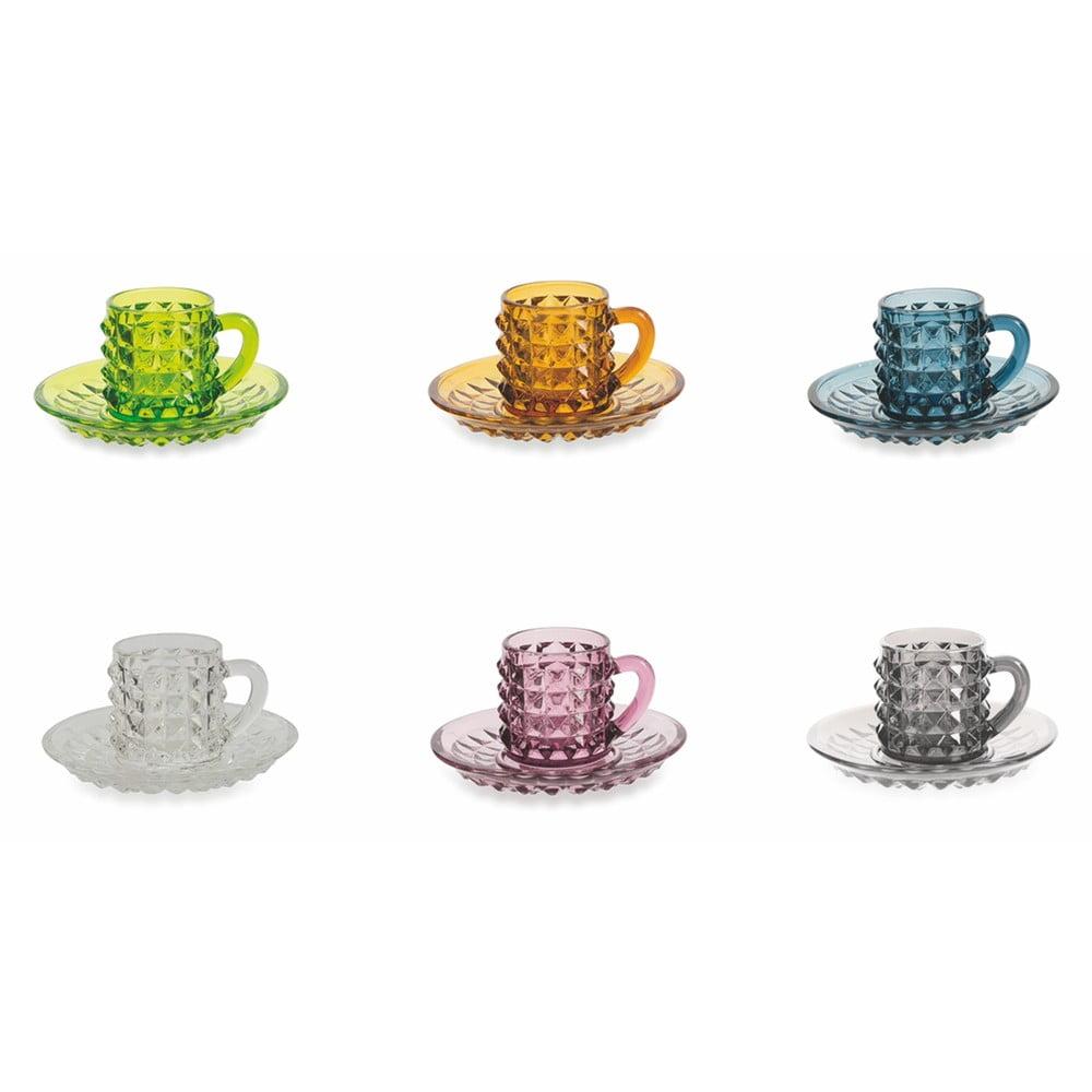Súprava 6 šálok na kávu s tanierimki Villa d'Este Diamond